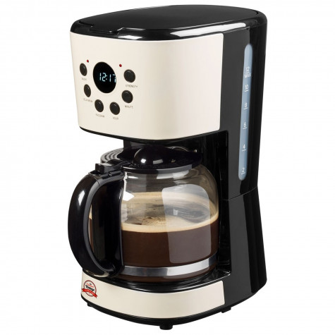 Ivoire coulait BESTRON Machine à café 12 tasses warmhalte plaque acm100re