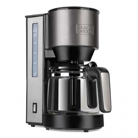 black & decker Cafetière filtre 10 tasses 870w inox/noir black & decker