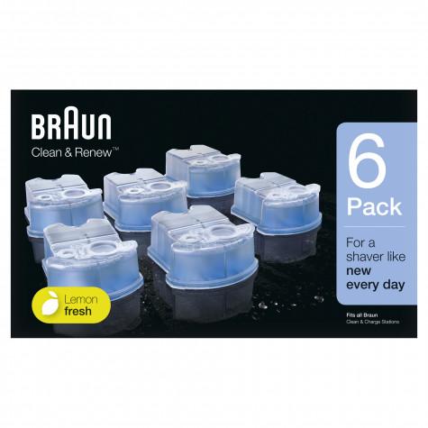 braun 6 cartouches de nettoyage clean & renew braun