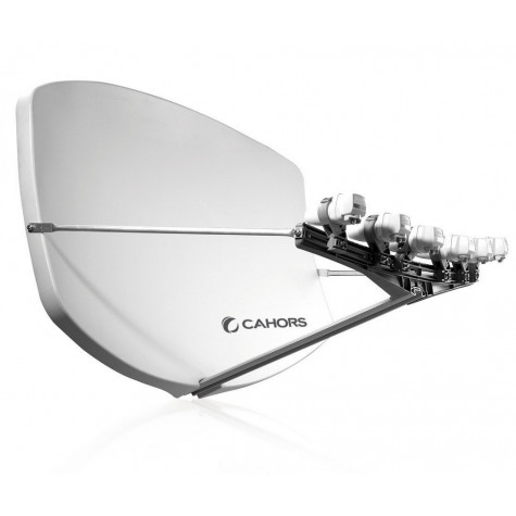 cahors Antenne satellite compacte + 4 supports lnb cahors