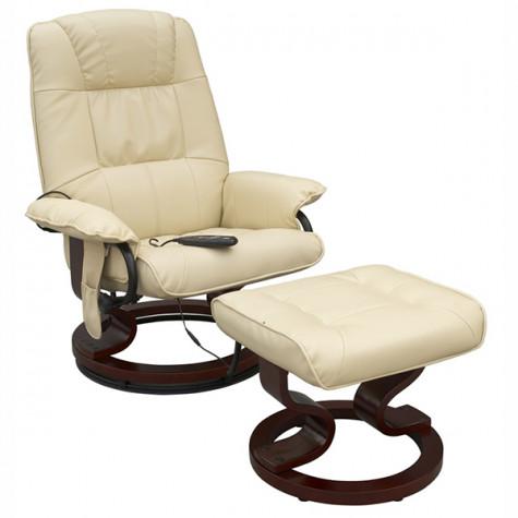 confort line Fauteuil de massage chauffant blanc confort line