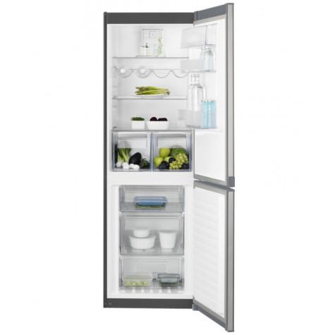 electrolux Réfrigérateur combiné 60cm 311l a++ nofrost inox electrolux