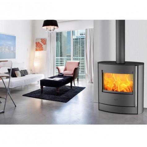 fireplace Poêle à bois 7kw acier noir fireplace