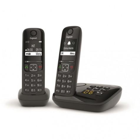 gigaset Téléphone sans fil duo dect noir avec répondeur gigaset