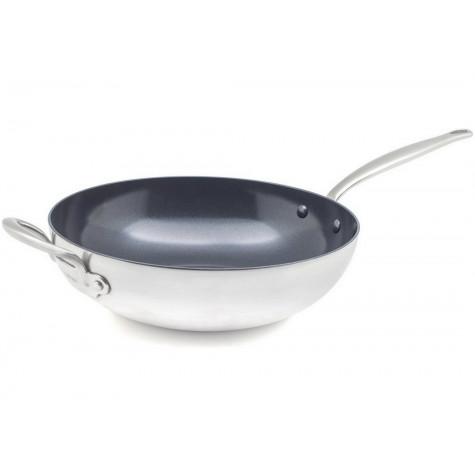 greenpan Poêle wok inox 30cm greenpan