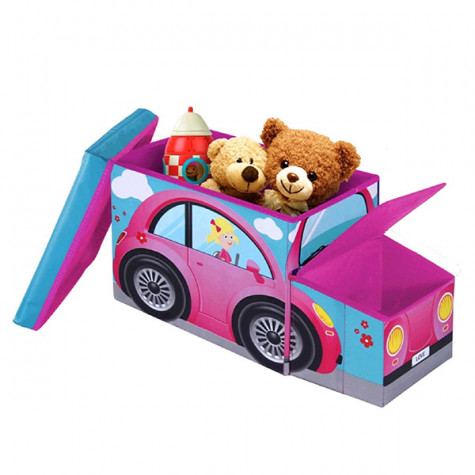 jocca Caisse de rangement voiture rose jocca