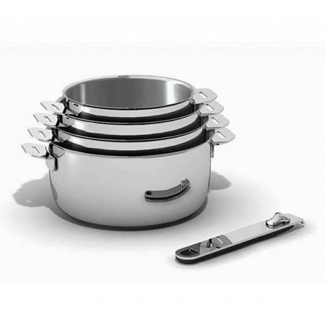 kitchen fun Série de 4 casseroles inox 14/16/18/20cm kitchen fun