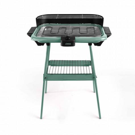 livoo Barbecue électrique sur pieds 2000w vert livoo