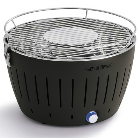 lotusgrill Barbecue à charbon portable 35cm anthracite avec housse lotusgrill