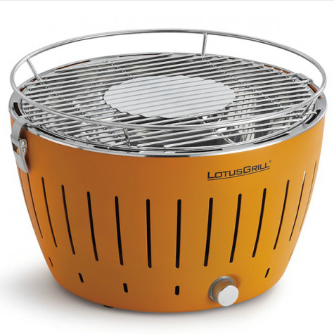 lotusgrill Barbecue à charbon portable 35cm orange avec housse lotusgrill