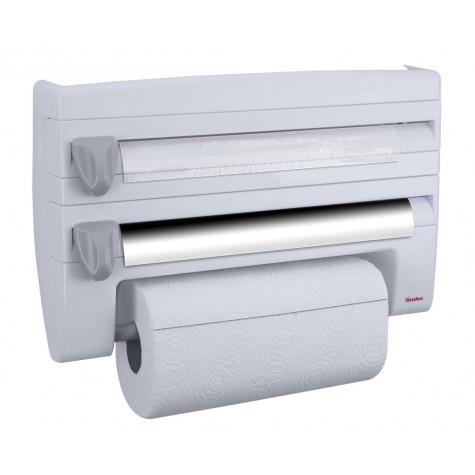 metaltex Dérouleur coupe film, papier, essuie-tout aluminium metaltex