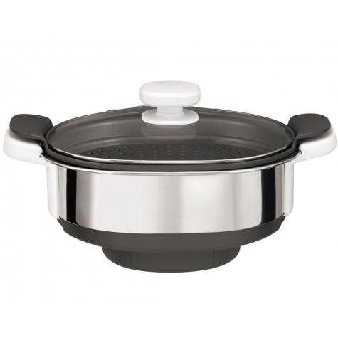 moulinex Cuiseur vapeur 3.7l inox/gris moulinex