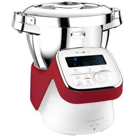 moulinex Robot cuiseur multifonctions 4.5l 1550w blanc/rouge moulinex