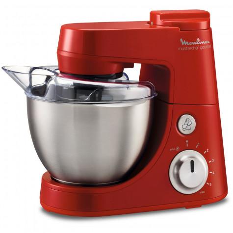 moulinex Robot pâtissier 4l 900w rouge + blender 1.5l moulinex