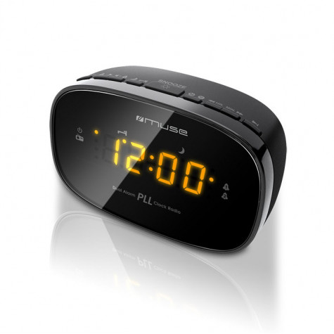 muse Radio-réveil double alarme noir muse