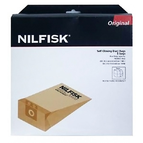 nilfisk Lot de 5 sacs pour aspirateur business series, gd1010 nilfisk