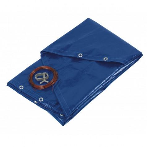 ribitech Bâche de protection pour piscines rondes 520cm bleue ribitech