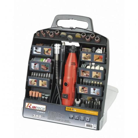 ribitech Coffret outil électrique multifonctions avec 300 accessoires ribitech