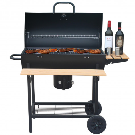 robby Barbecue à charbon 70x35cm avec chariot robby