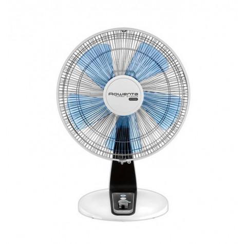 rowenta Ventilateur de table 30cm 40w blanc/bleu rowenta