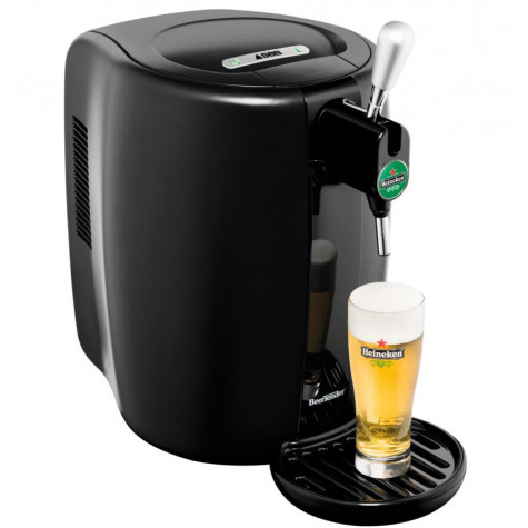 seb Machine à bière 5l noir avec 4 gobelets seb