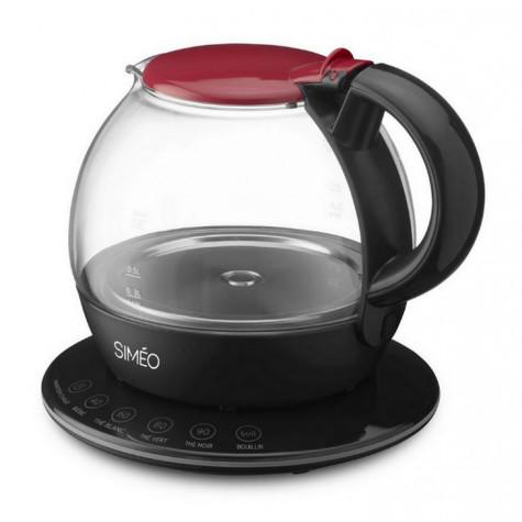 simeo Théière électrique 1l 2200w rouge/noir simeo