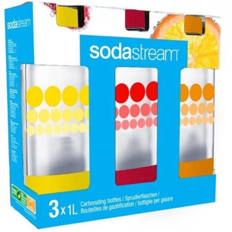 sodastream Pack de 3 bouteilles de 1l pour machines à gazéifier sodastream