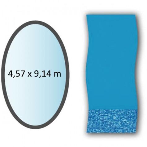 swimline Liner swirl forme ovale 4,57x9,14m pour piscine hors sol swimline