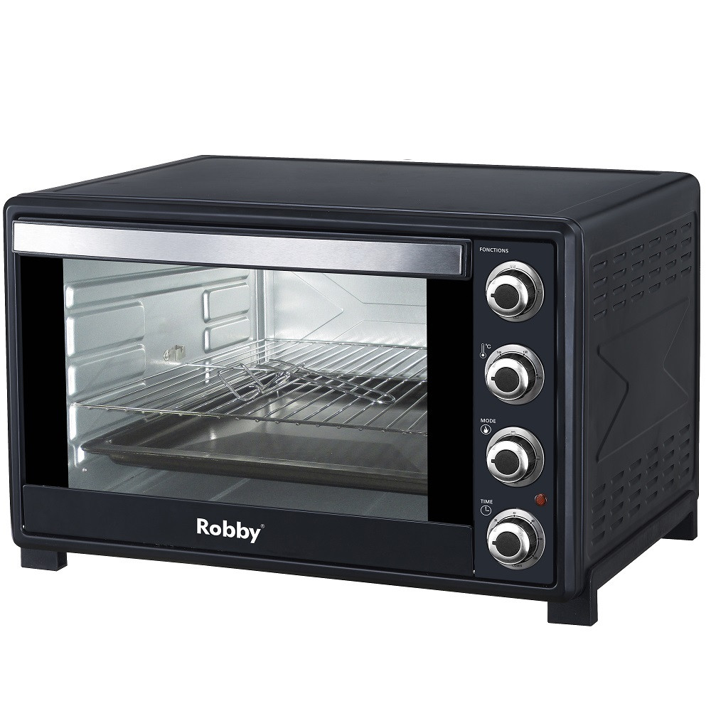 robby four multifonction chaleur tournante 60l 2200w noir oven 60l nouveaux marchands. Black Bedroom Furniture Sets. Home Design Ideas