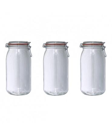 Lot de 3 bocaux en verre 3l