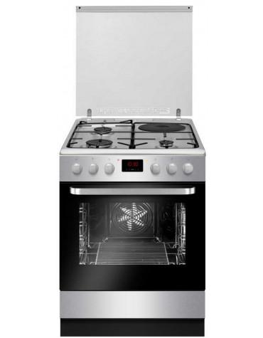 Cuisinière mixte 65l 4 feux inox