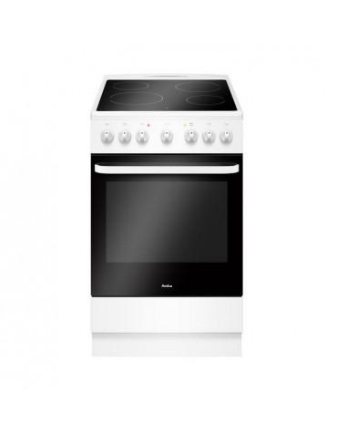Cuisinière vitrocéramique 65l 4 feux blanc