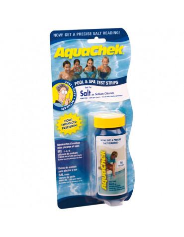 aquachek 10 bandelettes test pour chlorure de sodium aquachek