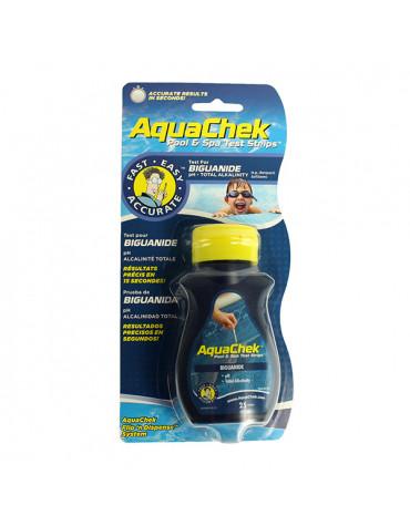 aquachek 25 bandelettes test pour biguanide aquachek