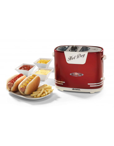 ariete Machine à hot dog 650w rouge ariete