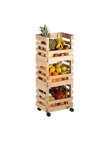 astigarraga Resserre à légumes en pin 30x38x90cm astigarraga