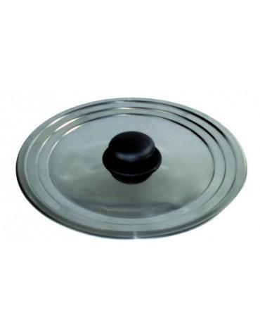 baumalu Couvercle inox universel 22 à 26 cm baumalu