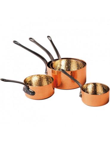 baumalu Lot de 5 casseroles cuivre martelé et étamé baumalu