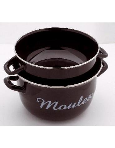 baumalu Marmite à moules 24 cm noire baumalu