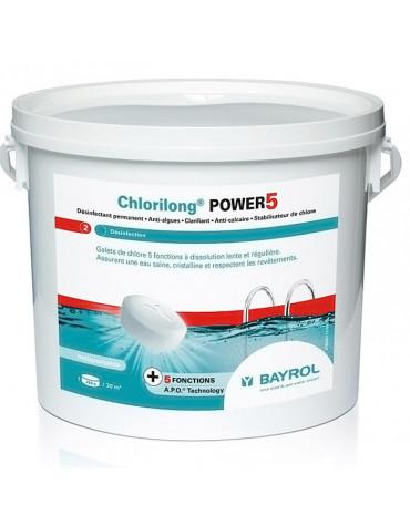 Chlore lent 5 fonctions galet 5kg