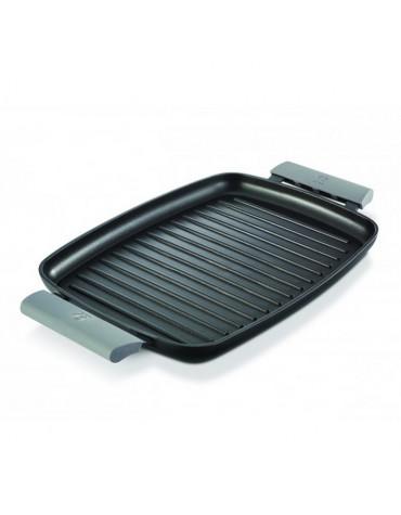 Grill rectangulaire fonte d'aluminium 47cm