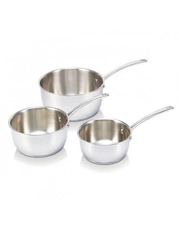 Série de 3 casseroles inox 16/18/20cm
