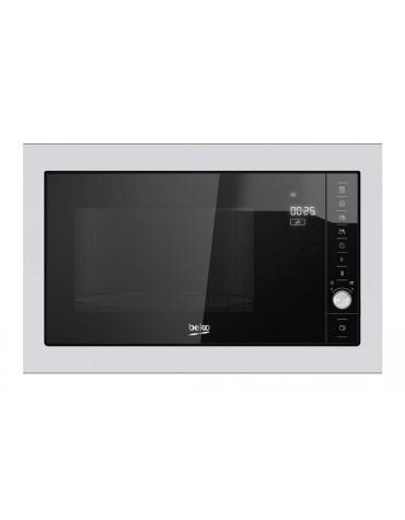 beko Micro-ondes + grill encastrable 25l 1000w noir/inox beko