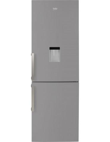 beko Réfrigérateur combiné 60cm 334l a++ brassé silver beko