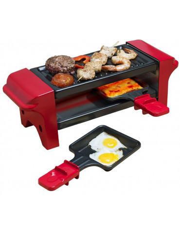 bestron Appareil à raclette 2 personnes 350w + gril noir/rouge bestron