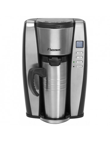 bestron Cafetière isotherme programmable personnel 2 tasses 650w inox bestron