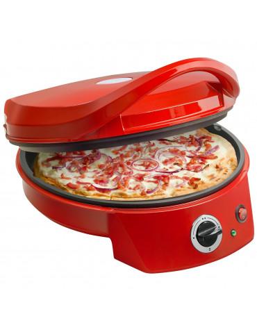 Four à pizza et grill-viandes 2en1 1800w 27cm rouge