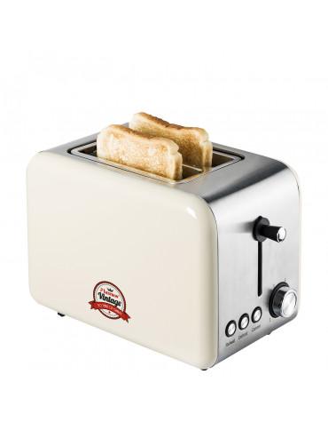 Grille-pain 2 fentes 850w ivoire