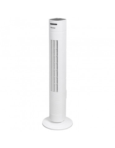 Ventilateur colonne 35w 3 vitesses blanc
