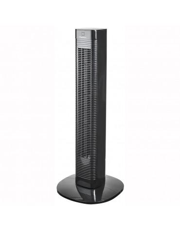 bestron Ventilateur colonne 80cm 50w 3 vitesses avec télécommande noir bestron